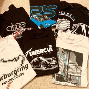 Tuner Cult T-shirt lot of 7. Men's small $20